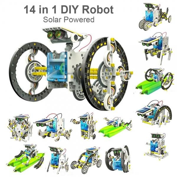 14-in-1 solar-robot