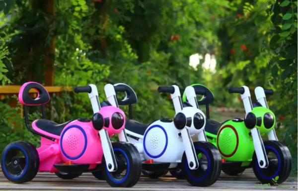 Детский электро-мотоцикл Bubble Cosmo White