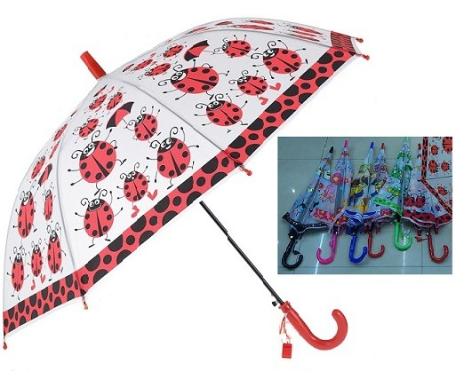 Зонтик детский с рисунком прозрачный