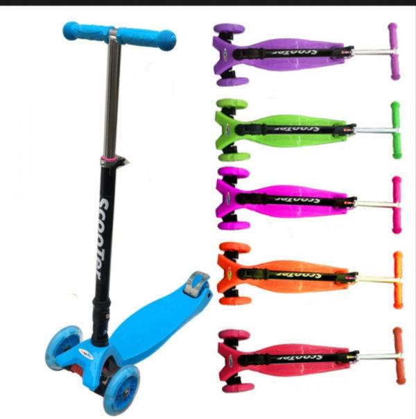 Самокат скутер со складной ручкой
