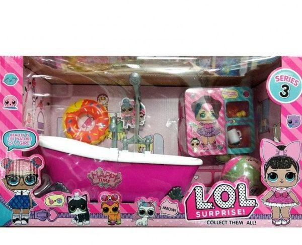 Кукла ЛОЛ с ванной и аксессуарами