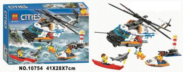 Конструктор Bela 10754 Сверхмощный спасательный вертолет