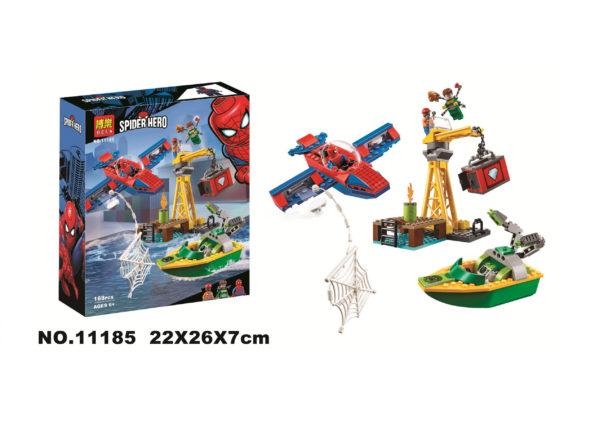 Конструктор Bela 11185 Человек-Паук: похищение бриллиантов Доктором Осьминогом