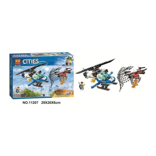 Конструктор Lari 11207 Воздушная полиция: погоня дронов