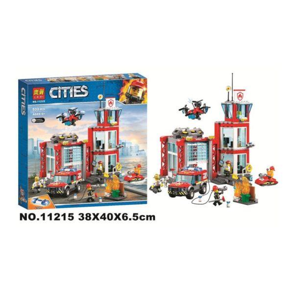 Конструктор Lari 11215 Пожарное депо