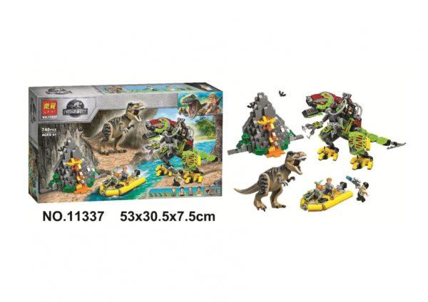 Конструктор Lari 11337 Бой тираннозавра и робота-динозавра