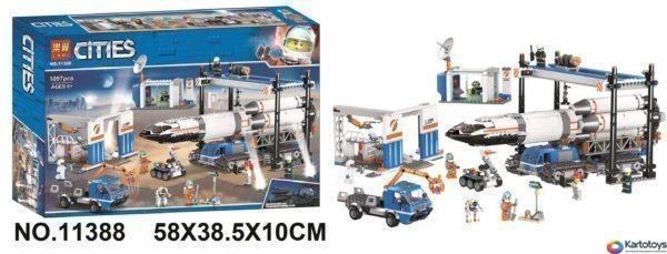 Конструктор Lari 11388 Площадка для сборки и транспорт для перевозки ракеты