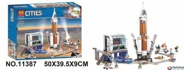 Конструктор Lari 11387 Ракета для запуска в далекий космос и пульт управления запуском